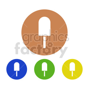 clipart - popsicle vector icon set.