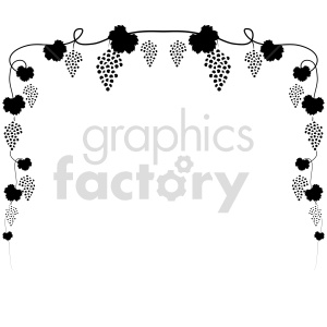 grape vine vector icons clipart. Commercial use image # 415217