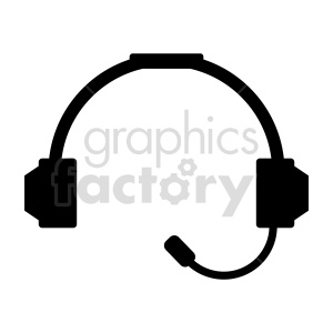 headphone with mic vector clipart clipart. Commercial use image # 415226