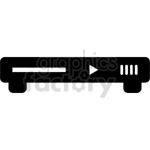 dvd player vector icon clipart. Commercial use image # 415237