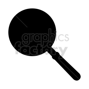 black white frying pan vector clipart clipart. Commercial use image # 415267