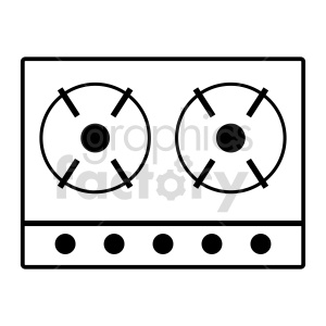 gas stove top vector clipart icon clipart. Commercial use image # 415268