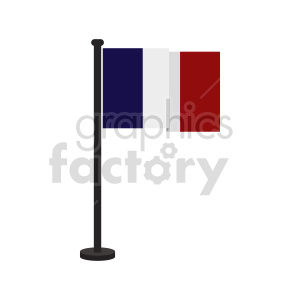 flag of France vector clipart icon 03 clipart. Commercial use image # 415296