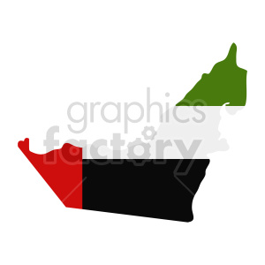 United Arab Emirates flag vector clipart 02 clipart. Commercial use image # 415346