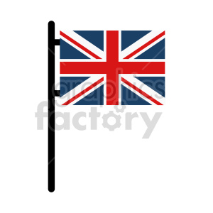Union Jack Flag of United Kingdom vector clipart 04 clipart. Commercial use image # 415348