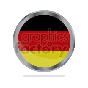 German flag vector clipart circle icon clipart. Commercial use image # 415385
