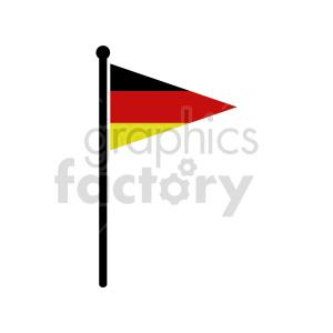 clipart - German flag vector clipart icon 04.