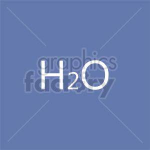 h2o symbol vector clipart