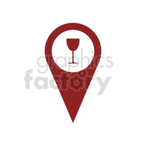 clipart - gps wine marker icon vector clipart.