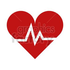 clipart - ekg heart vector clipart.