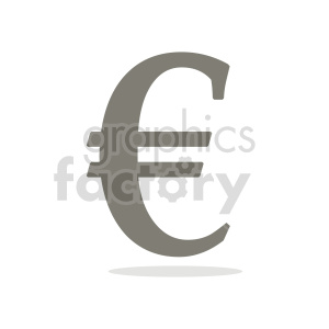 euro symbol vector clipart clipart. Commercial use image # 415558