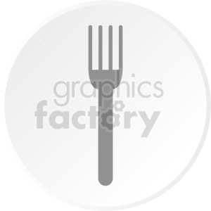 clipart - fork plate vector clipart.