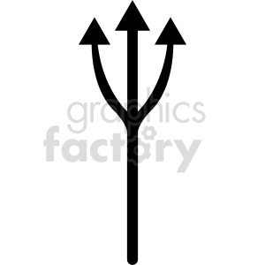 clipart - fish fork vector clipart.