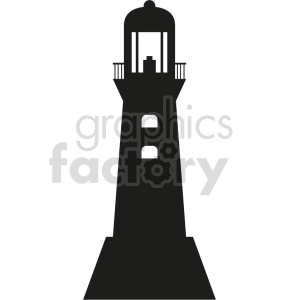 lighthouse silhouette vector outline clipart. Commercial use image # 415631