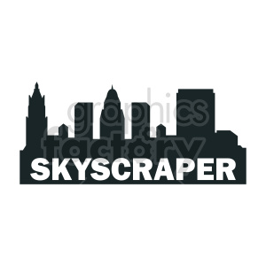 vector skyscraper buildings clipart clipart. Commercial use image # 415638