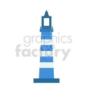 blue lighthouse vector icon clipart. Commercial use image # 415663