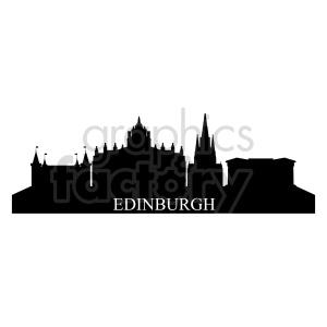 clipart - Edinburgh Scotland city skyline.