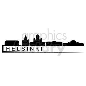 clipart - Helsinki skyline vector clipart.