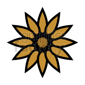 clipart - flower vector clipart 11.