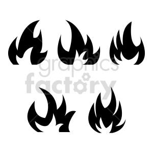 fire bundle vector clipart clipart. Commercial use image # 415806