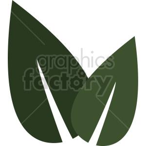 dark green leaf design clipart. Commercial use image # 415828
