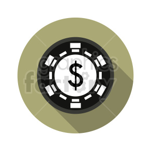 poker chip vector clipart 04 clipart. Commercial use image # 415843