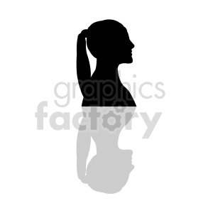 silhouette profile of girls head clipart clipart. Commercial use image # 415855
