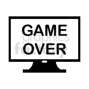 clipart - game over vector clipart.