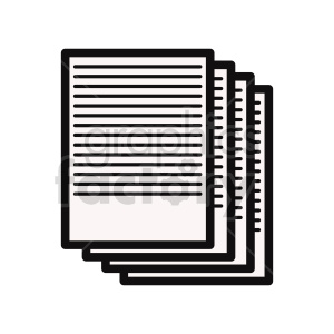 documents vector clipart clipart. Commercial use image # 415908