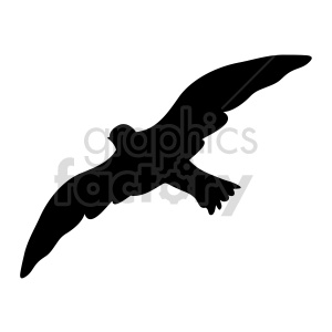 bird flying silhouette vector clipart. Commercial use image # 415956
