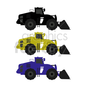 heavy excavator bundle vector graphic clipart. Commercial use image # 416024
