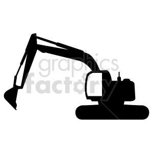 excavator silhouette vector graphic clipart. Commercial use image # 416035