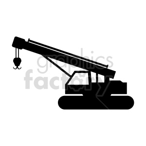 crawler crane silhouette vector clipart clipart. Commercial use image # 416044