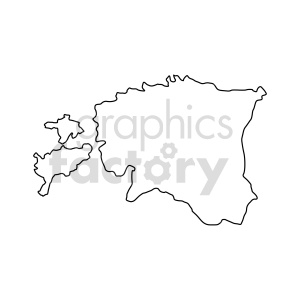 estonia outline vector clipart clipart. Commercial use image # 416088