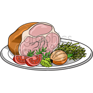 ham dinner vector graphic clipart. Commercial use image # 416124