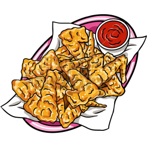 chicken tenders vector clipart clipart. Commercial use image # 416140