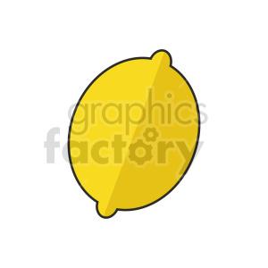 lemon outline vector graphic clipart. Commercial use image # 416232