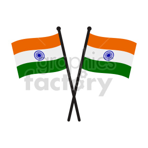 indian flag vector clipart clipart. Commercial use image # 416303