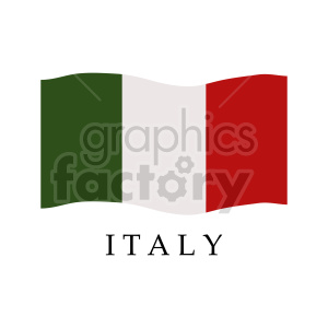 italy flag graphic clipart. Commercial use image # 416307