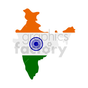 indian flag vector design clipart. Commercial use image # 416327