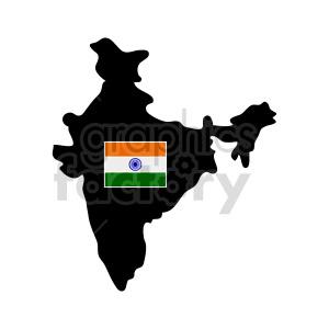 indian outline vector clipart