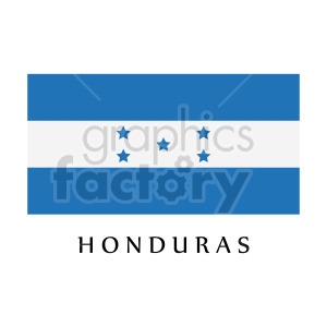 hounduras flag graphic clipart. Commercial use image # 416332