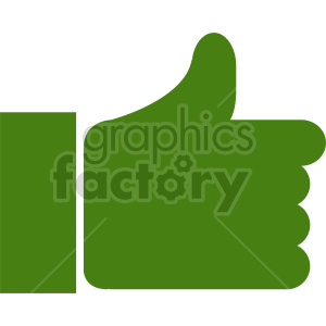thumb up symbol vector clipart