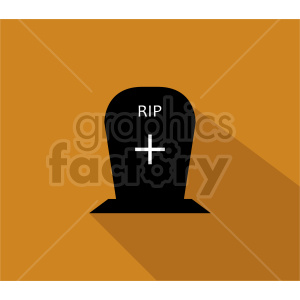 rip tombstone icon with shadow clipart. Commercial use image # 416362