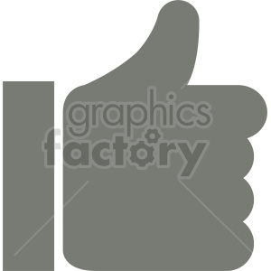 thumbs up like symbol vector clipart clipart. Commercial use image # 416397