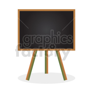framed chalkboard stand vector clipart clipart. Commercial use image # 416404