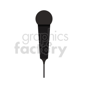 microphone vector graphic clipart. Commercial use image # 416422