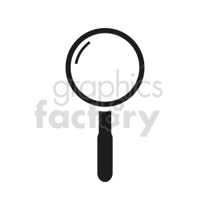 simple magnifying glass vector graphic clipart. Commercial use image # 416425