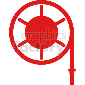 fire hose vector icon clipart. Commercial use image # 416441