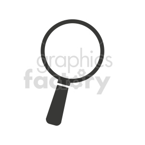 magnifying glass graphic clipart. Commercial use image # 416446